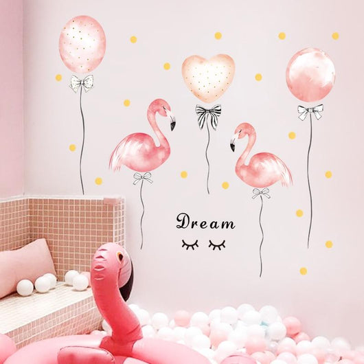 Pink Flamingo Dream Wall Decal Wall Stickers Trendy houseware Store