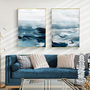 Gentle Waves Canvas Prints Painting & Calligraphy Sayea Decor Store