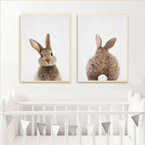 Bunny Baby Canvas Prints Painting & Calligraphy aooins Store