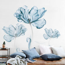 Load image into Gallery viewer, Blue Floral Wall Decals Wall Stickers Adah Store