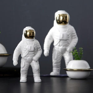 Nordic Astronaut Porcelain Figurines Ceramic Vase Home Decor Modern Tabletop Space Man Sculpture Home Decoration Accessories|Vases Vases Acellen Store