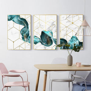 "Waves Canvas Prints Sayea Decor Store A4 / 8.27"" x 11.69"" / 21 x 30 cm Set of 3"