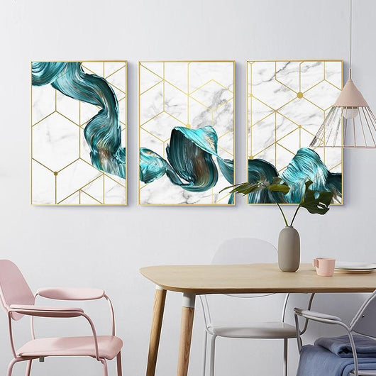 Waves Canvas Prints Sayea Decor Store A4 / 8.27