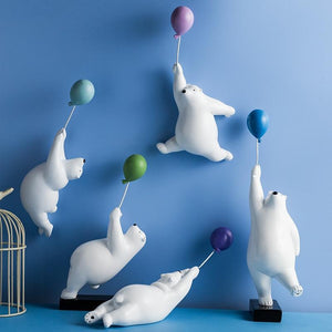 Polar Bears and Popping Balloons Figurines Figurines & Miniatures Beautiful crafts Store