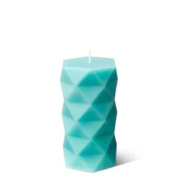 Argyle Candle | Triangulated Design Candles | Embla - Turquoise / Sea Salt & Orchid - Candles