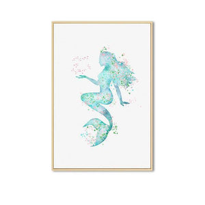 Seafoam Siren Canvas Prints Painting & Calligraphy Sayea Decor Store