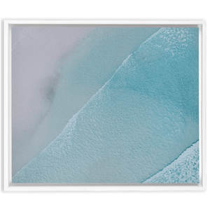 "Lucky Bay Aerial Wall Art Embla 1.25 inch White 20"" x 24"""