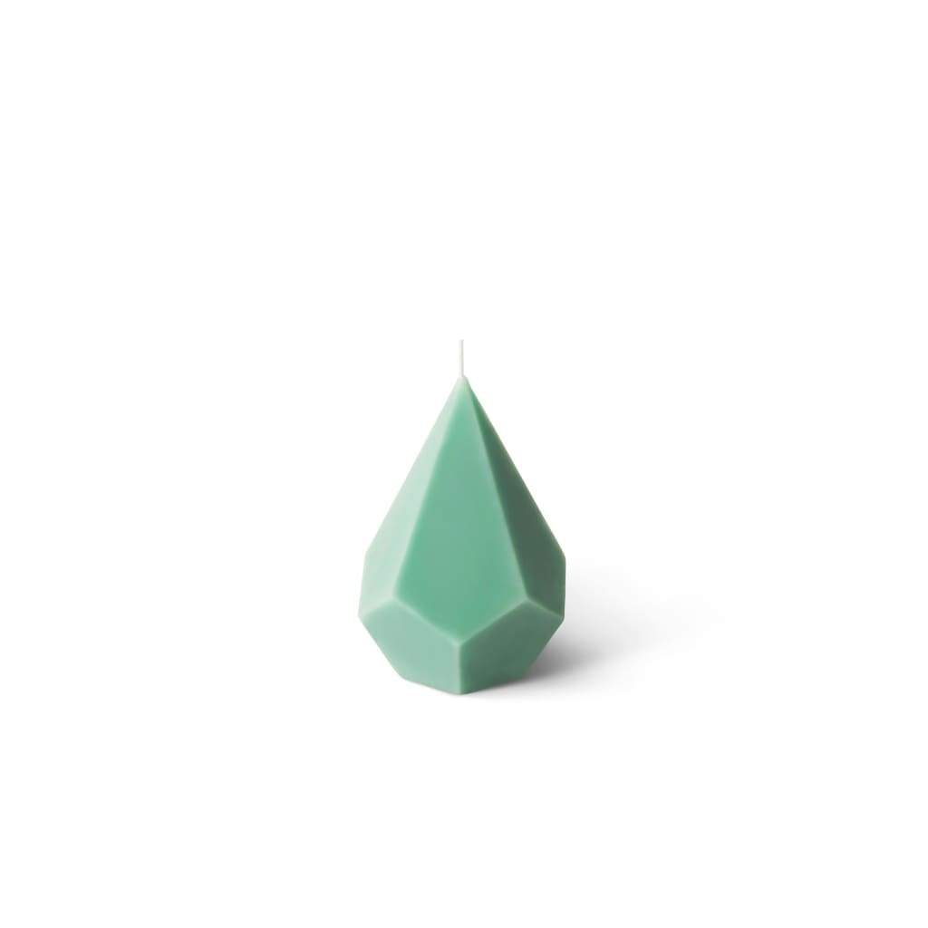 Crystal Candle | Geometry of Crystals | Embla - Pastel Green / Eucalyptus & Spearmint - Candles