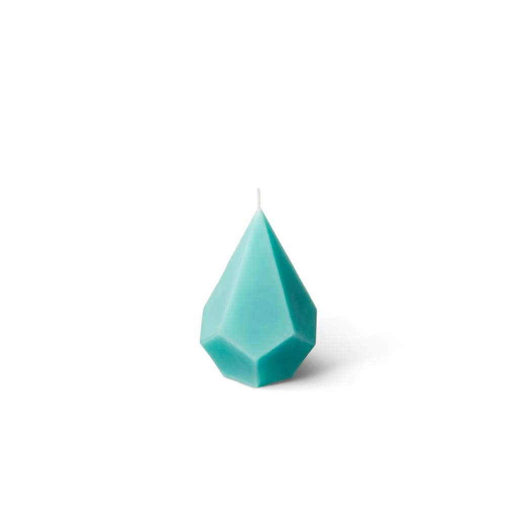 Crystal Candle | Geometry of Crystals | Embla - Turquoise / Sea Salt & Orchid - Candles
