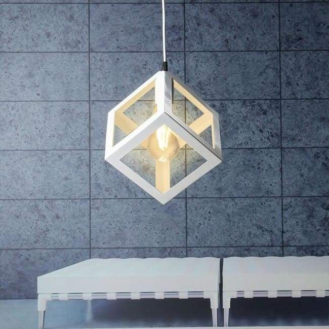 Cube Light - Available in White Black and Red - White / 1 head - Lighting