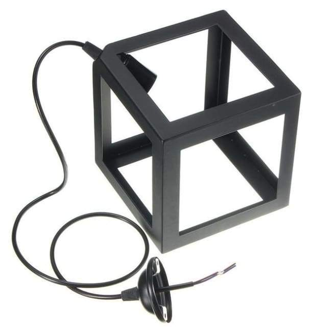 Cube Light - Available in White Black and Red - Black / 1 head - Lighting