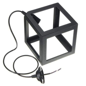 Cube Light - Available in White, Black and Red Lighting khelse Official Store Black Single Light