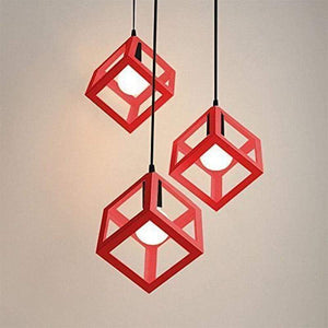 Cube Light - Available in White, Black and Red Lighting khelse Official Store Red Set of 3