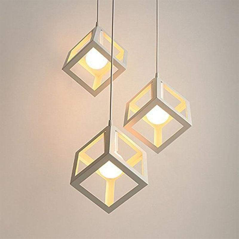 Cube Light - Available in White Black and Red - Lighting