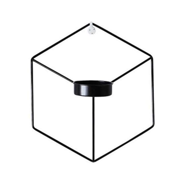 Hexagon Wall Planter - Black - Flower Pots & Planters