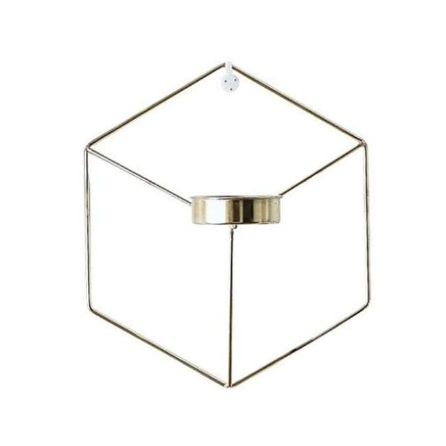 Hexagon Wall Planter - Gold - Flower Pots & Planters