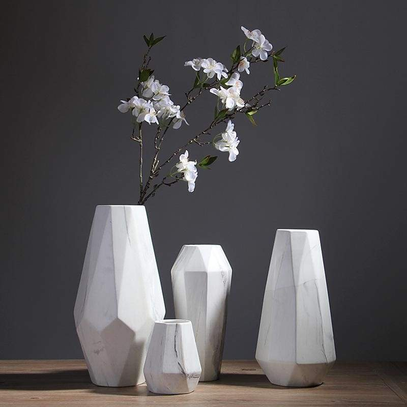 Porcelain Flower Vase - Geometric Perfection for Your Floral Design