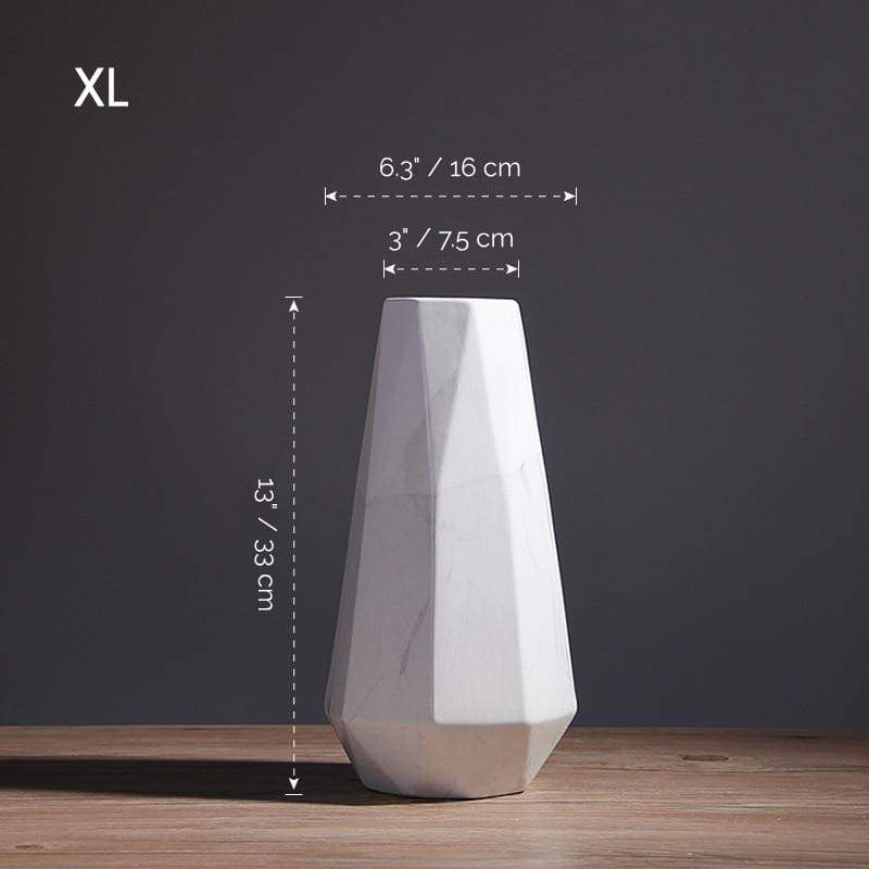 Porcelain Flower Vase - Geometric Perfection for Your Floral Design - XL