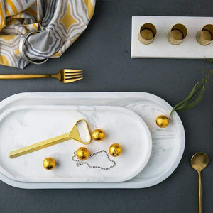 Rounded Marble Tray Storage Trays Ideayoyo Store