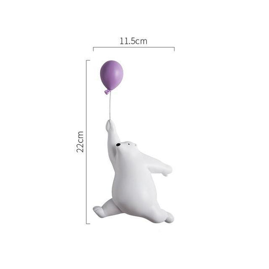 Polar Bears and Popping Balloons Figurines Figurines & Miniatures Beautiful crafts Store 11.5x22cm (4.5x8.6in)