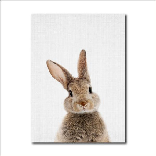 Bunny Baby Kids Room Canvas Prints Painting & Calligraphy aooins Store 13x18 cm No Frame FBH057