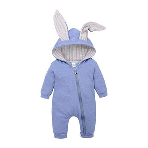 Romping Rabbit Toddler Romper Rompers MR BABY Store Blue 3M