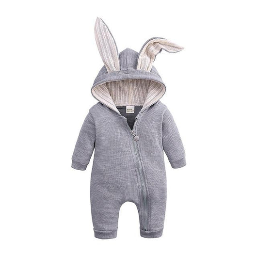 Romping Rabbit Toddler Romper Rompers MR BABY Store Gray 3M