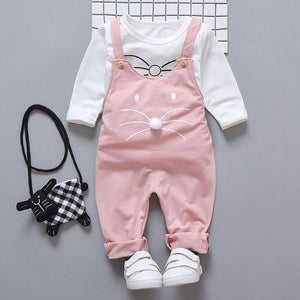 Spring newborn baby girls clothes sets fashion suit T shirt + pants suit baby girls outside wear sports suit clothing sets Clothing Sets My best love baby pink 9M