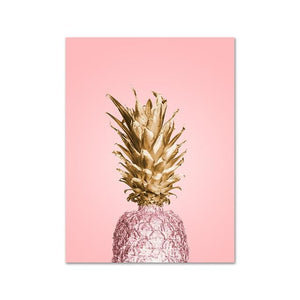 Pink Ananas Posters Plants Pineapple Wall Art Pictures Nordic Canvas Landscape Painting Modern Living Room Print Home Decoration Painting & Calligraphy newbility decorate Store 21X30CM No Frame 1