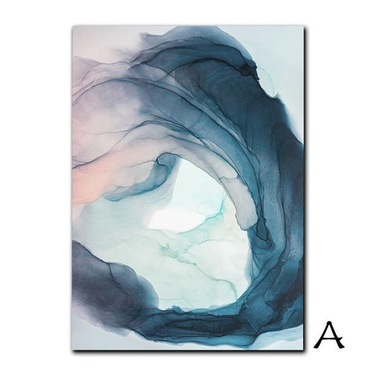 Abstract Color Splash Painting & Calligraphy Nordic Decoration Store 13X18cm No Frame A