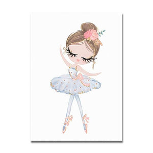 Princess Ballerina Canvas Prints Painting & Calligraphy Sayea Decor Store 13x18cm No Frame A