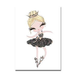 Princess Ballerina Canvas Prints Painting & Calligraphy Sayea Decor Store 13x18cm No Frame C