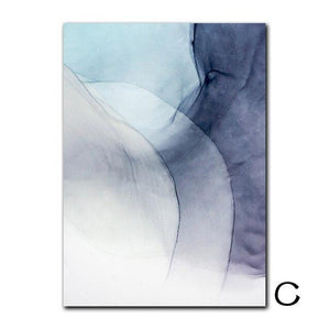 Abstract Color Splash Painting & Calligraphy Nordic Decoration Store 13X18cm No Frame C
