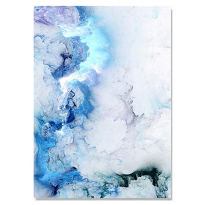 Blue marble painting abstract painting canvas pictures for living room canvas art wall posters and prints art Print Unframed Painting & Calligraphy sweet-life 20X25cm No Frame C