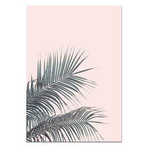 Nordic Flamingo Flower Wall Art Canvas Poster Pink Minimalist Print Painting Scandinavian Decoration Picture Living Room Decor Painting & Calligraphy NICOLESHENTING Official Store 13x18cm No Frame Picture 2