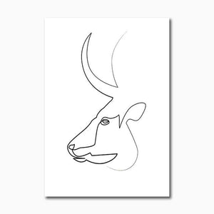 Nordic Figure Animal Line Poster Modern Abstract Canvas Painting Wall Art Print Decorative Picture Living room Home Decoration|Painting & Calligraphy Painting & Calligraphy Sayea Decor Store 10x15cm No Frame F