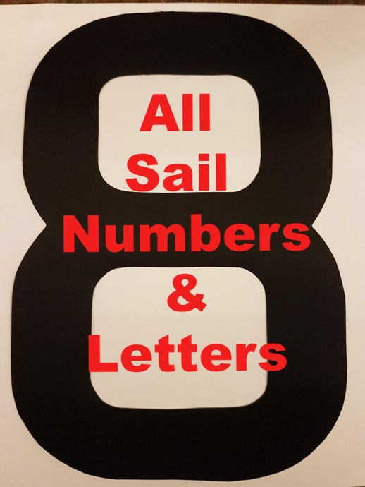 Sail Numbers: Dinghy & Keelboat All Numbers & Letters available in 4 sizes and 8 colours.  Prices from £1.00 to £6.25