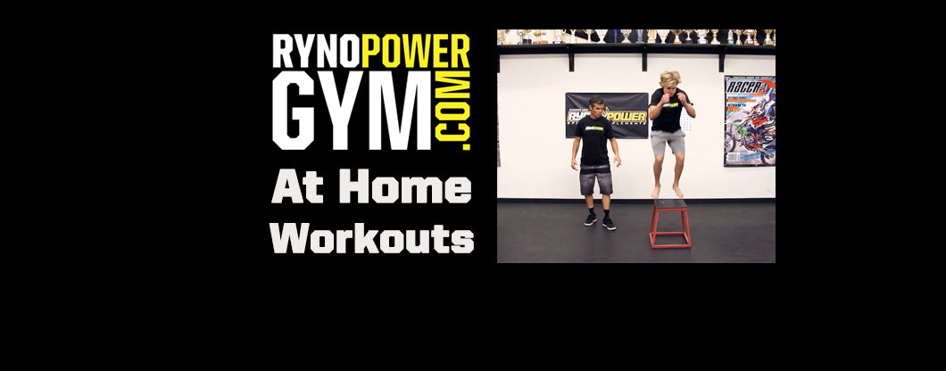 Ryno Power Gym At Home Workouts with Ryan Hughes! BOX HOP