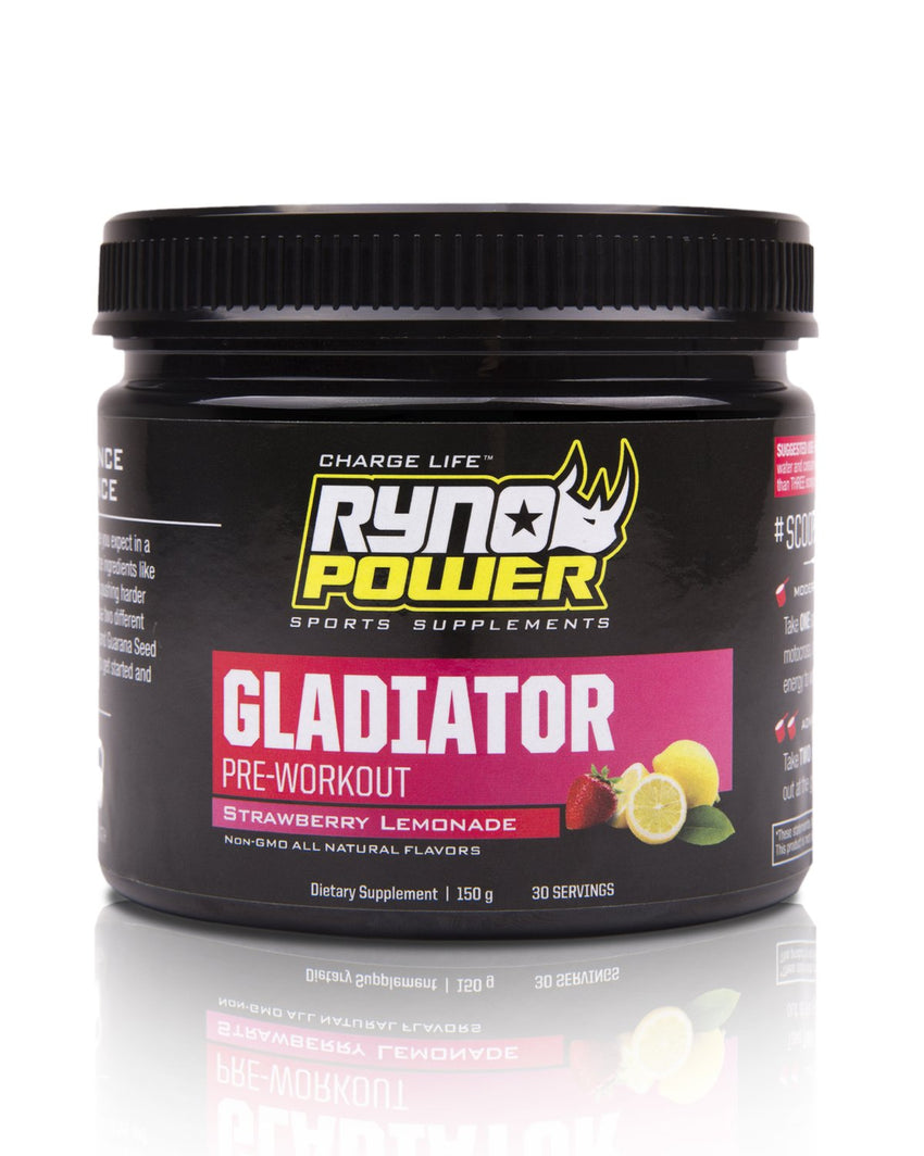 GLADIATOR Strawberry Lemonade Pre-Workout Drink Mix | 30 Servings (150 g)