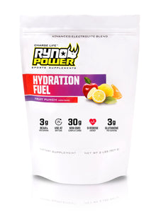 HYDRATION FUEL Fruit Punch Electrolyte Drink Mix | 20 Servings (2 LBS)