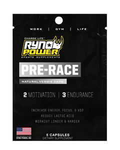 PRE-RACE | MOTIVATION and ENERGY Pre-Workout Supplement Combo Pack | Single Serving (5 Capsules)