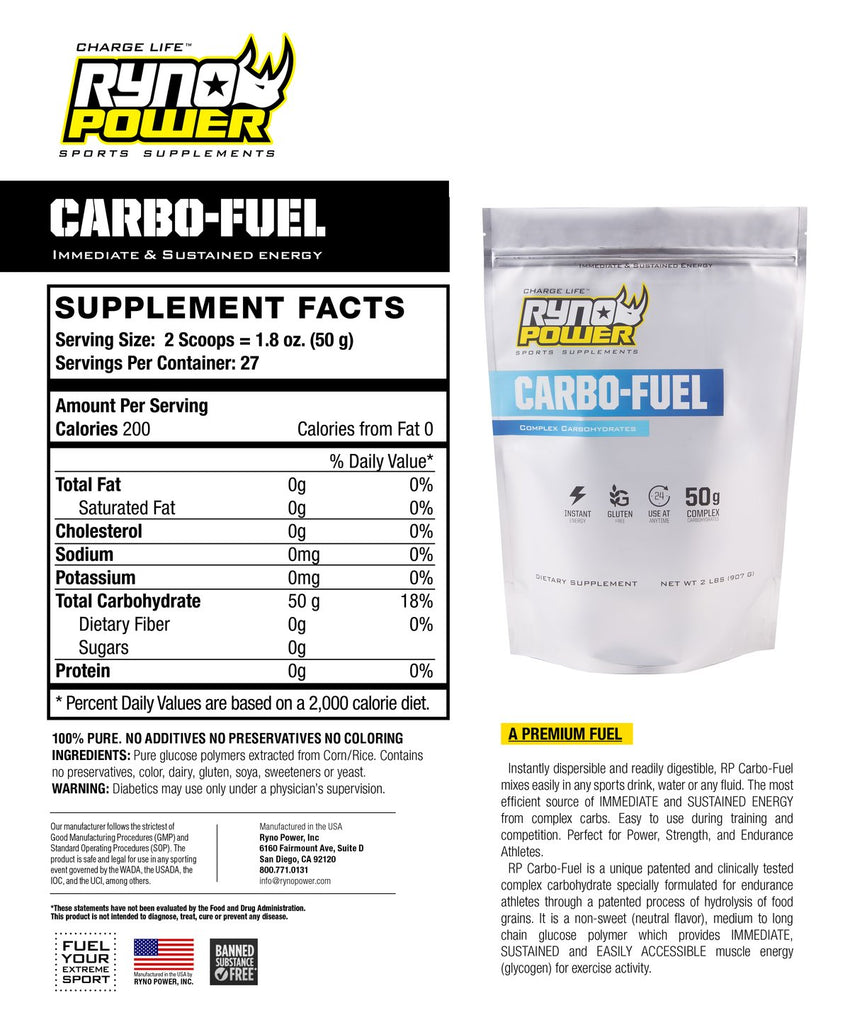 CARBO-FUEL Stimulant-Free Pre-Workout Drink Mix | Single Serving