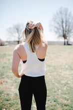 Tree Pose Crop Top | White