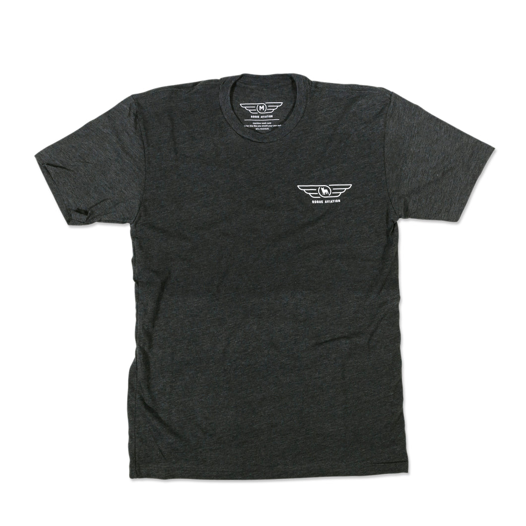 The Classic Rogue Aviation Logo Tee (Charcoal)