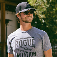 The Rogue Aviation Distressed Tee (Heather Grey)