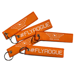Rogue Aviation #FLYROGUE Keychain Tag (Pack of Five)