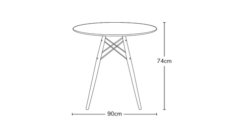 a3f99634739c Buy Eames Style 90cm Walnut Round Dining Table