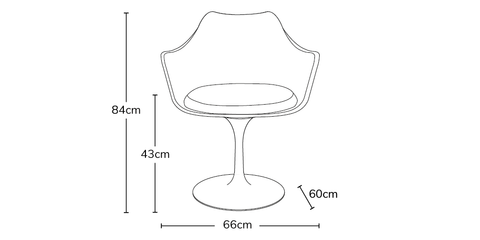 Tulip Arms Chair info