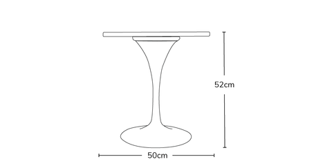 Tulip 50cm Side Table Info