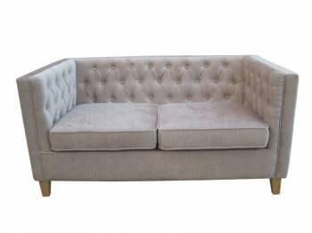 York 2 Seater Mink Sofa - directhomeliving
